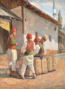 Attributed to Spiro Bocaric (Yugoslavian 1878-1941), The laundrymen