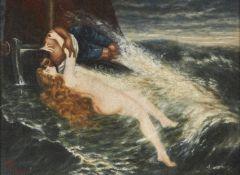 Attributed to Edwin Howland Blashfield (American 1848-1936), The siren