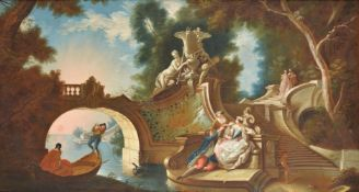 Circle of Jacques de Lajoue (French 1687-1761), Scene galante dans un parc