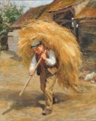 Ralph Hedley (British 1851-1913), Carrying the hay