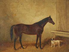 Follower of John Frederick Herring Senior (British 1795-1865), Portrait of Launcelot, Winner of the