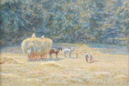 Helen Allingham (British 1848-1926)Carrying the Hay, Shere