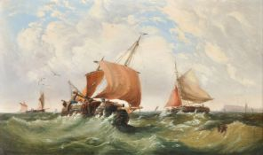 Follower of William Callow, Shipping in choppy waters