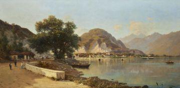 Silvio Poma (Italian 1841-1932), Feriolo on Lake Maggiore