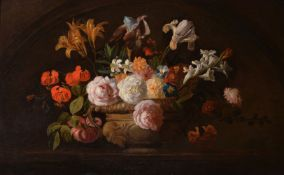 Jakob Bogdani (Anglo-Hungarian 1660-1724), Still life of flowers in a vase