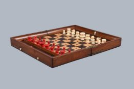 ϒ An 'In Statu Quo' travel chess set by Jaques of London