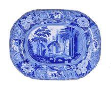 An Andrew Stevenson 'Netley Abbey' pattern meat dish