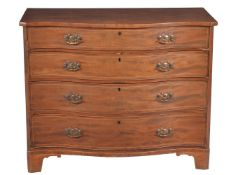 A George III mahogany serpentine fronted chest of drawers