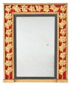 A Regency giltwood and composition wall mirror