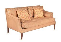 A mahogany and upholstered sofa