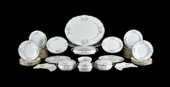 A Cauldon China Angoulême sprig pattern part dinner service