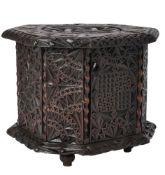 A Flemish carved and stained treen carriage foot warmer
