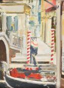 λ Paul Brown (British 20th century)Gondola in Venice