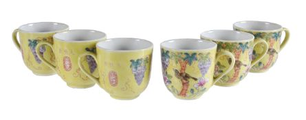 A set of six dayazhai-style teacups
