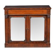 ϒ A Regency rosewood side cabinet