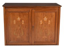 A mahogany collector's specimen cabinet
