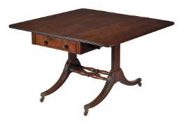 A Regency mahogany Pembroke or sofa table