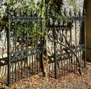 A pair of Gothic Revival wrought iron gates