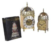 A gilt brass lantern clock