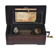 ϒ A Swiss simulated rosewood musical box