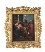 Italian School (mid-17th century) The Wise Men offering their gifts to the baby Christ