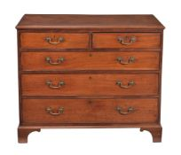 A George III mahogany chest of drawers
