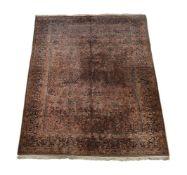 An Indian Sarouk carpet