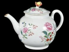 A Worcester polychrome teapot and cover