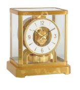 A gilt brass 'Atmos' timepiece, Jaeger-LeCoultre, model 528, 1970's