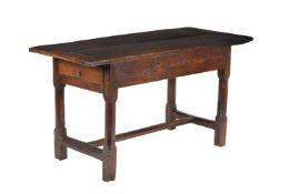 A Charles II oak table