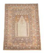 A Ghiordes prayer rug