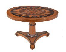 ϒ A George IV bird's-eye maple and specimen inlaid centre table