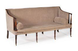 A George III mahogany sofa