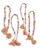 Four multi gem set cords
