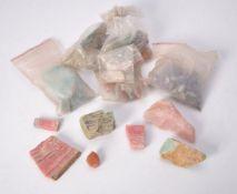 A group of uncut gemstones