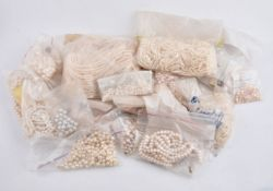 A large group of unstrung cultured and freshwater pearls