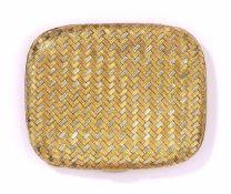 Puderdose750-Gelb-/Weißgold, innen mit Spiegel und herausnehmbarem Puderfach, 140 g (ohne