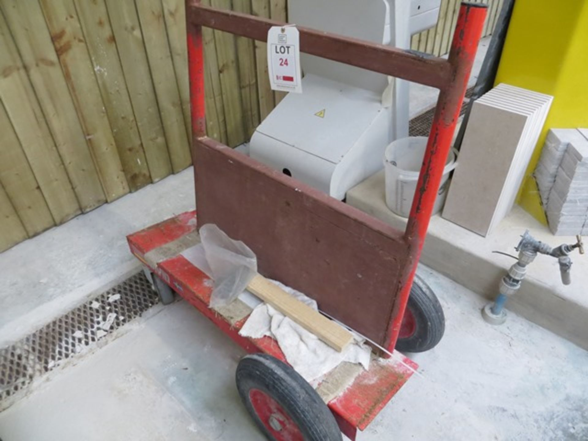 Lot 24 - Mobile Marble Slab Trolley