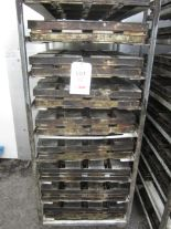 Lot 42 - Thirty-six bakers bread tins, 4 per tin (Excludes trolleys)