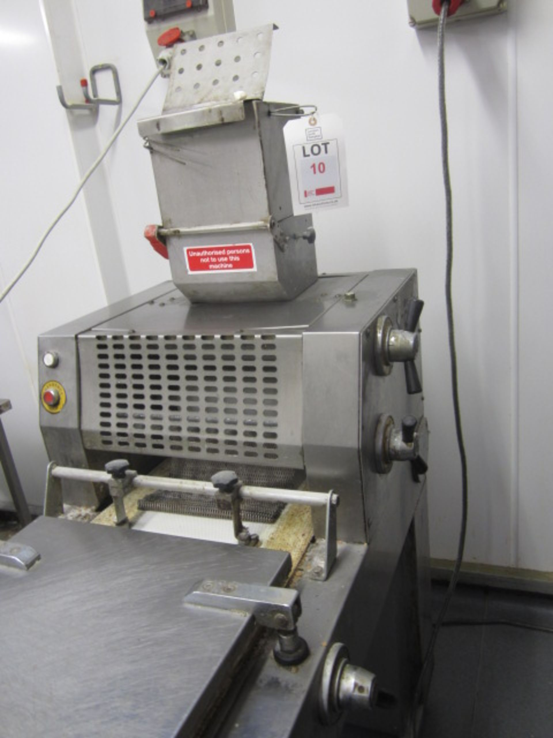 Lot 10 - Pro Bake Scobie LM3000 bread moulder/former s/n: 09010 (Please note: located on 1st Floor, purchaser