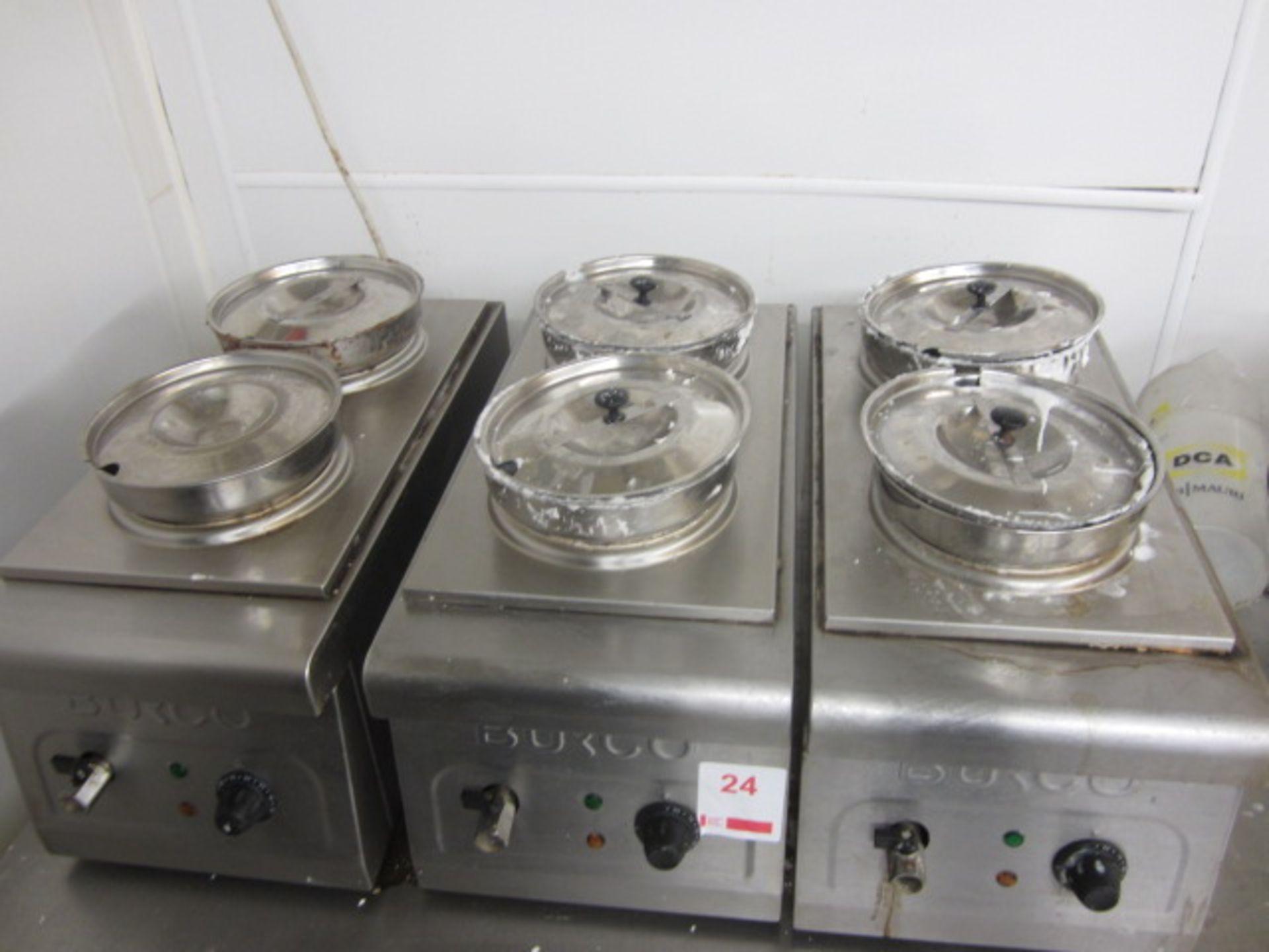 Lot 24 - Three Burco stainless steel bench top twin pot Bain Maries