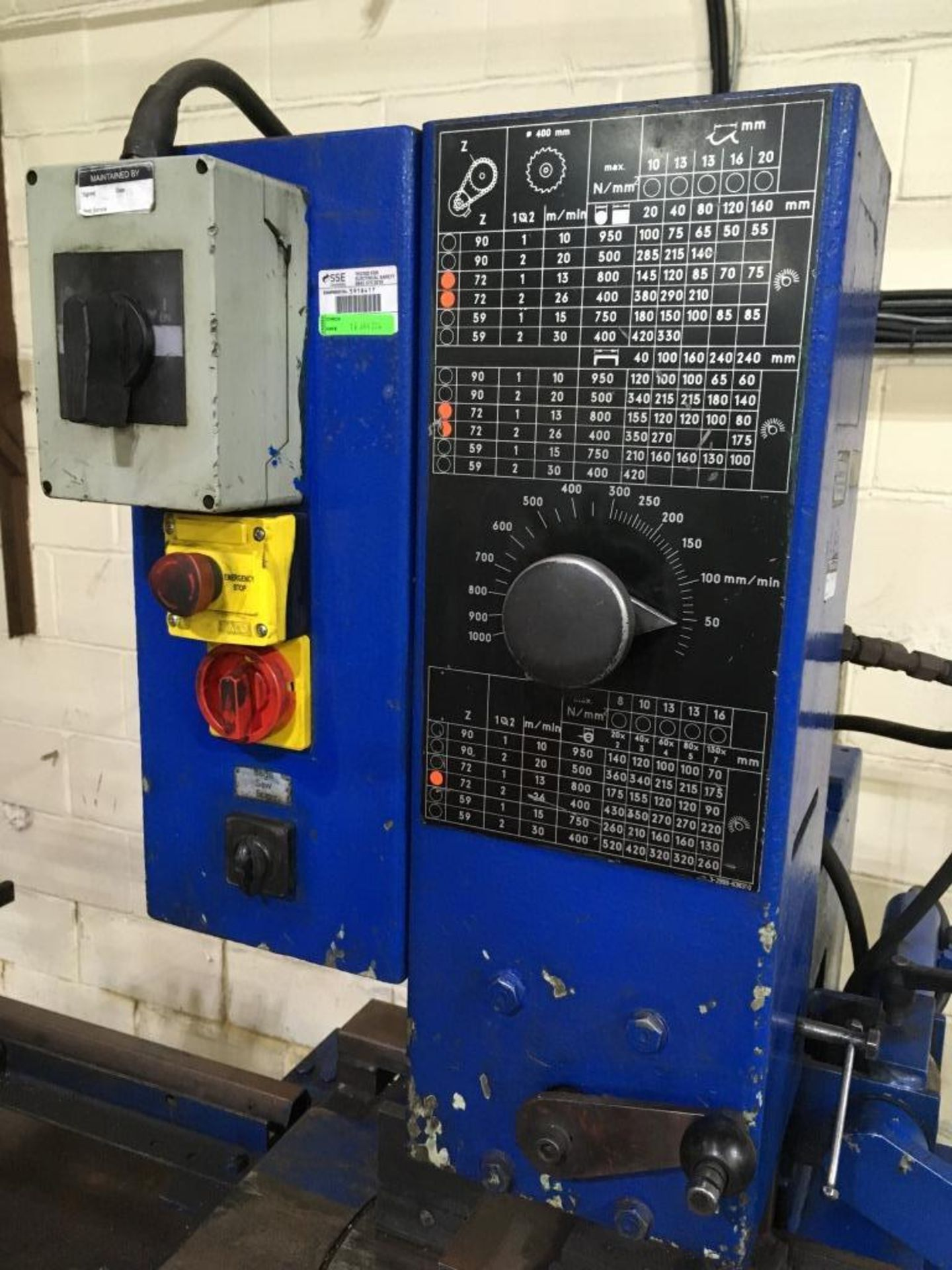 Lot 9 - Kaltenbach KKS 440H upstroking circular saw, Serial No. 110 990, with 3m roll feed, 1.4m roll feed