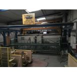 Lot 26 - Ercon Group pre treatment plant, 3 dip tanks, gantry, total floor space approx. 12m x 7.5m. A work