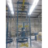 Lot 20 - Steel fabricated 1250kg bulk bag empty station with GIS 1250kg pendant controlled electric chain