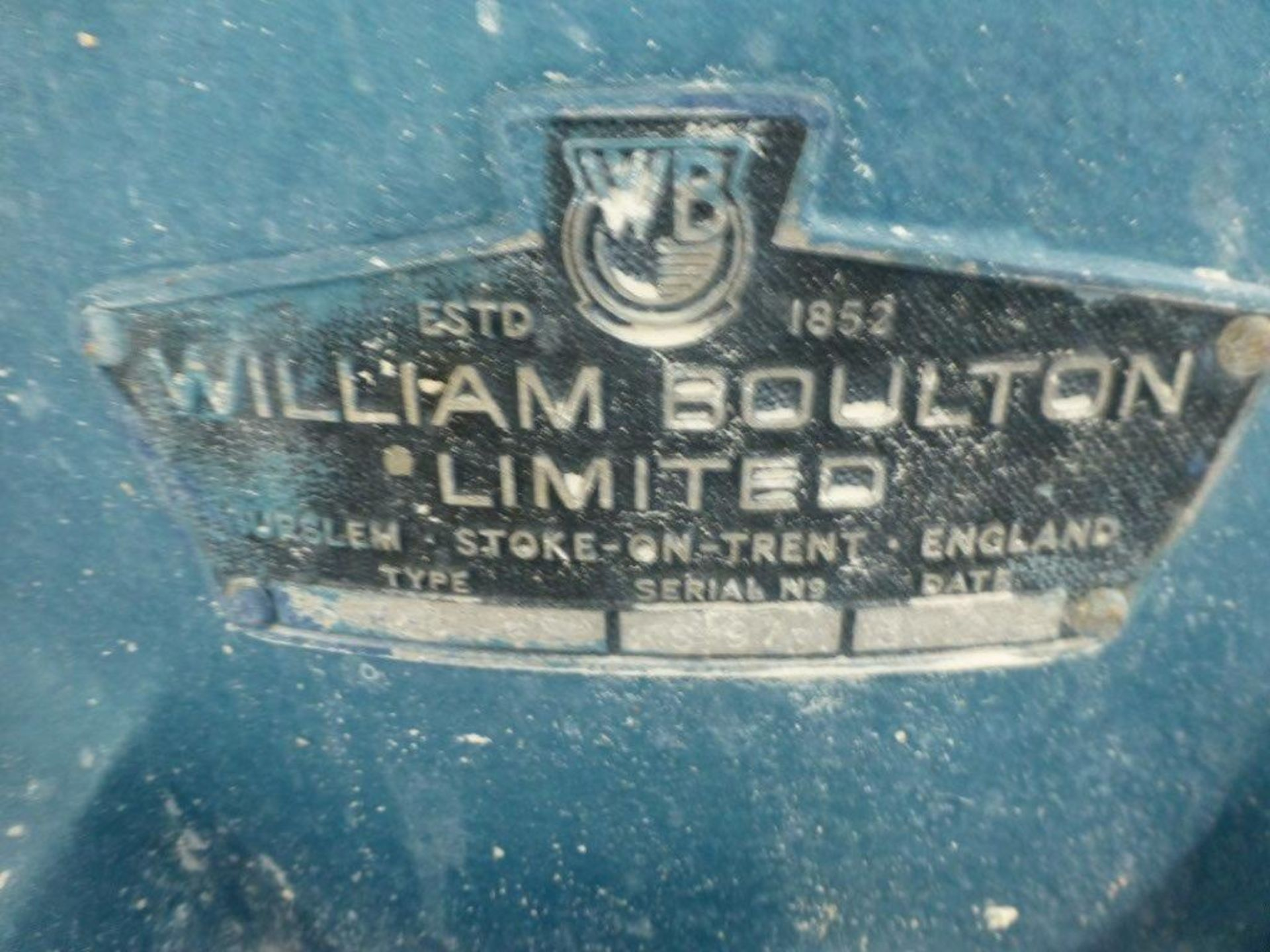Lot 21 - William Boulton HS-Blunger, VIT clay blunger serial No FS-9731, Plant No SHB1 CHINA CLAY BLUNGER 1
