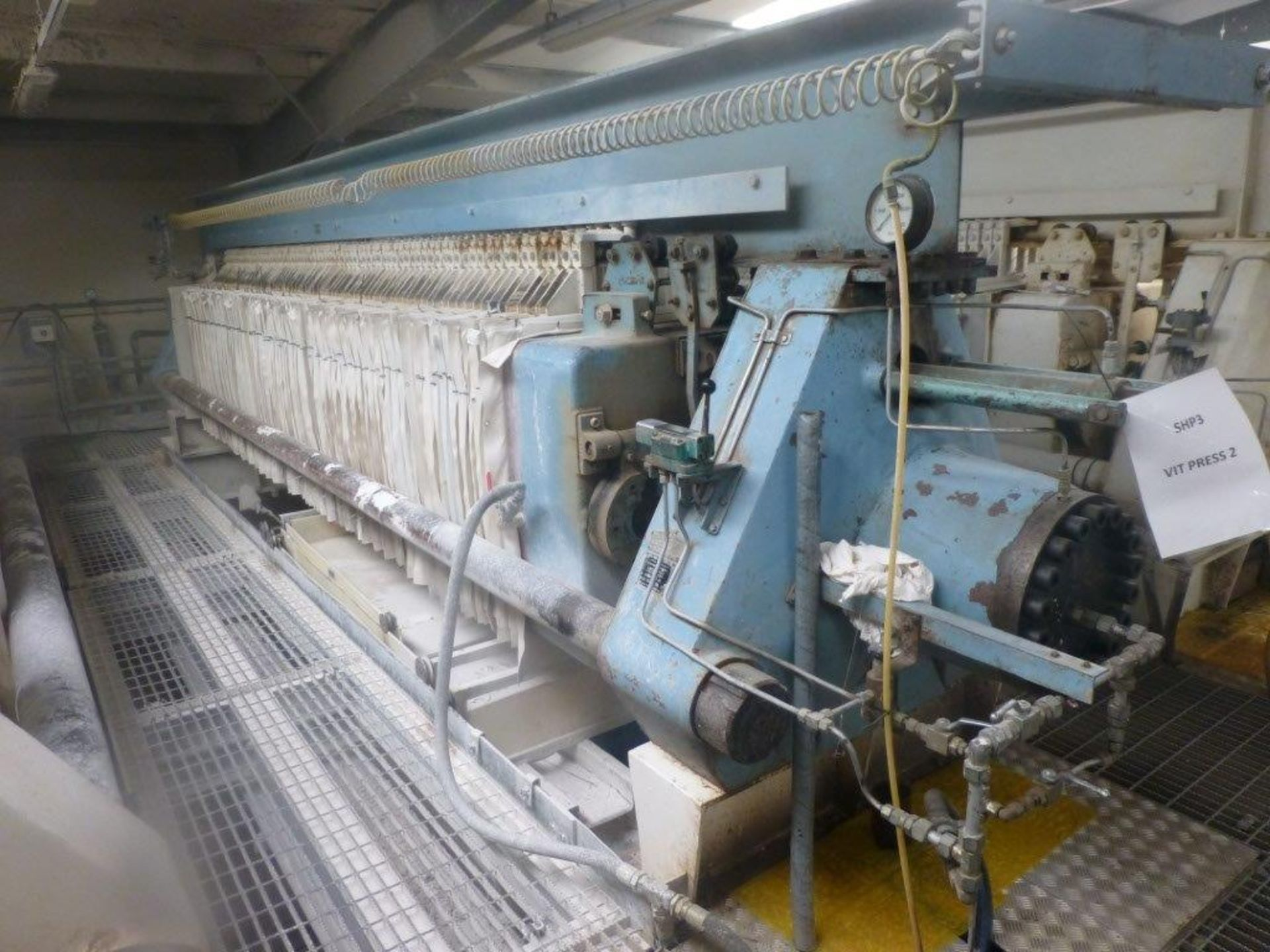 Lot 6 - William Boulton Type No 3 filter press, serial No FS-7684 (1974), Plant No SHP VIT PRESS 2 overall