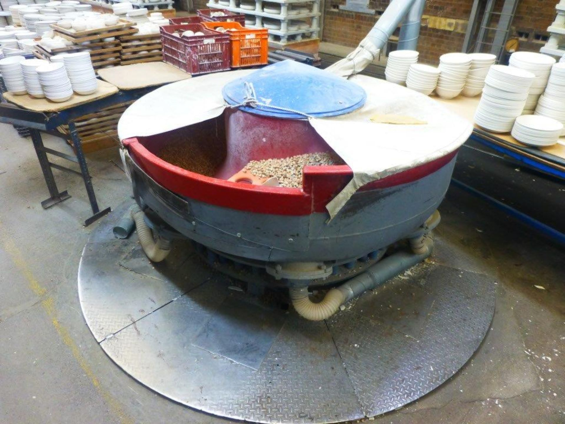 Lot 110 - 1900mm biscuit Vibro Mill, Plant No BVM4 with single chamber dust collection unit (partially