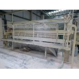 Lot 37 - 60 plate filter press, Plant No SHP6 Cream Press 1 overall length 5.6m with steel platform and