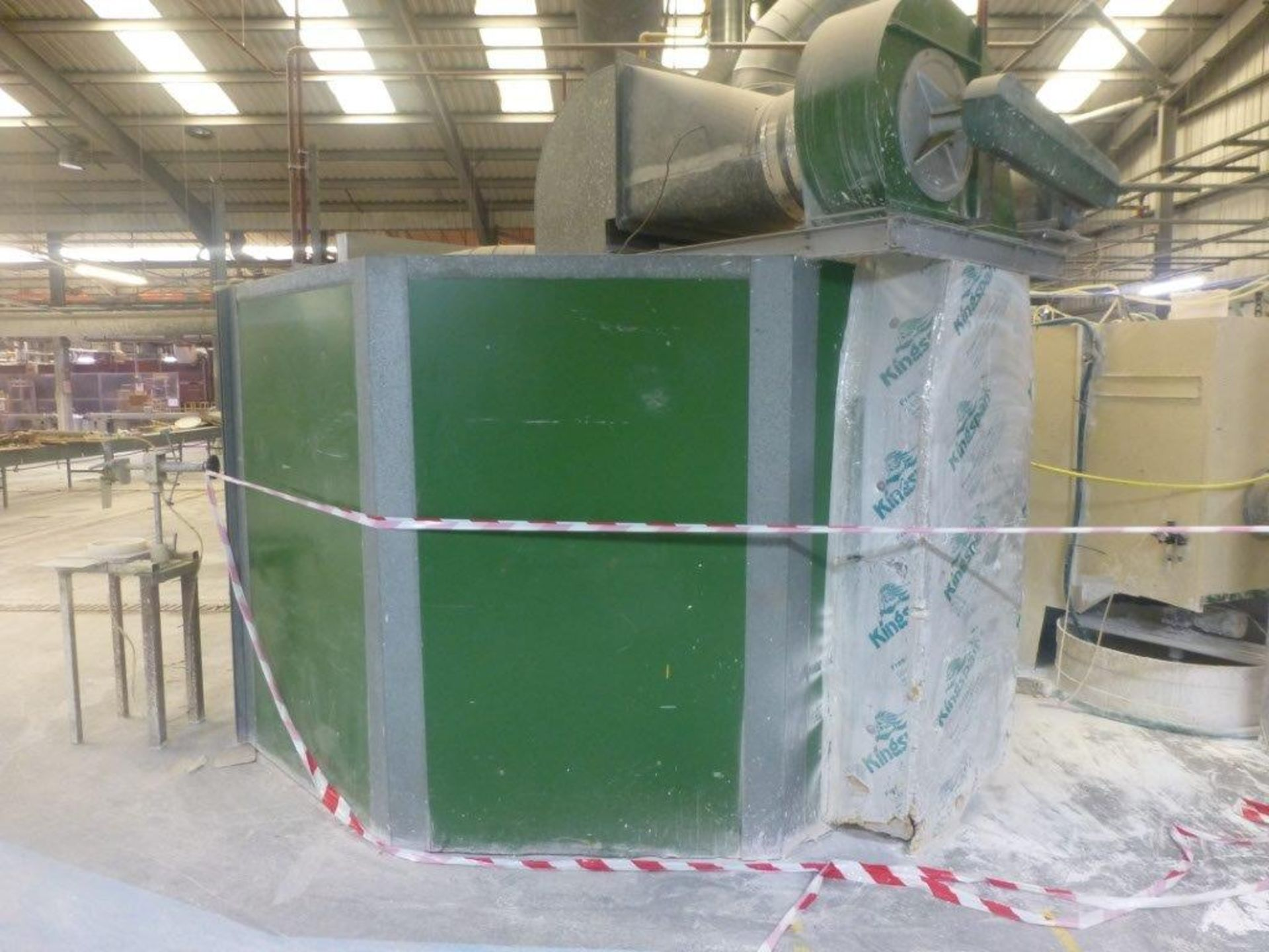 Lot 87 - GT Thermal 8 compartment gas fired rotary dryer with fanned extraction to roof