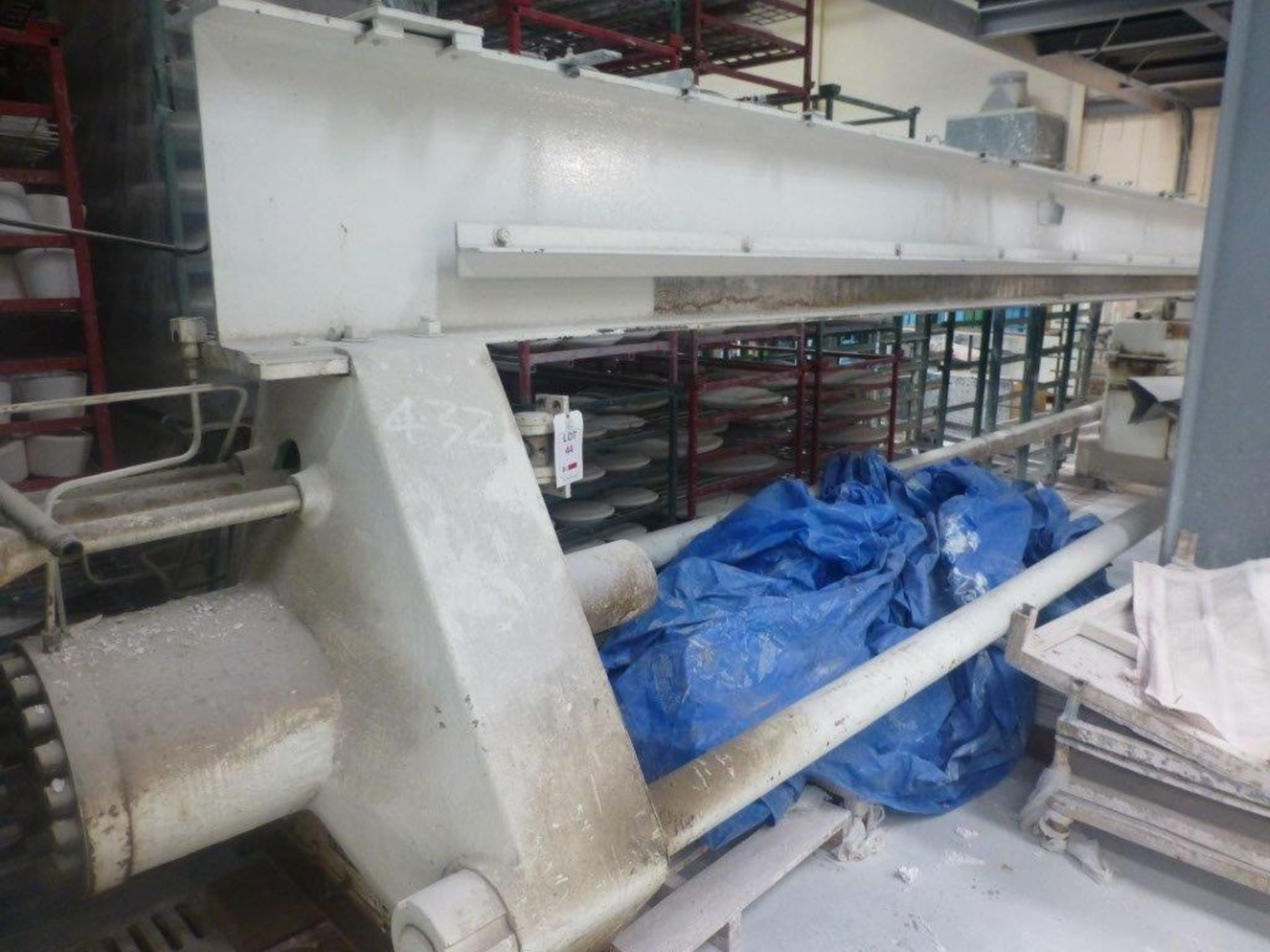 Lot 44 - William Boulton 2231 partially dismantled filter press, overall length 7.4m with a quantity of